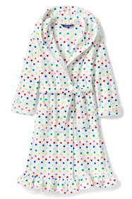 Girls Fleece Ruffle Hem Robe