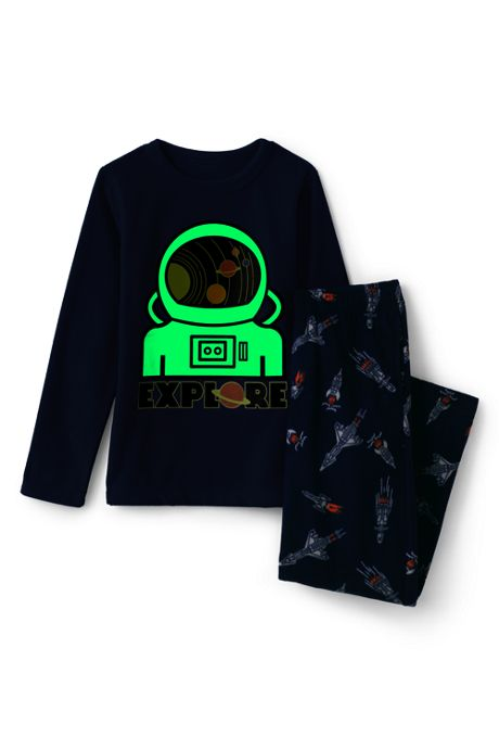 Boys Glow in the Dark Fleece Pajama Set