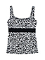 Women's Beach Living Square Neck Tankini Top, Colourblock
