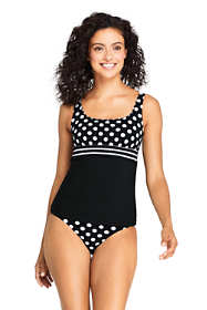 Women's D-Cup Square Neck Underwire Tankini Top Swimsuit Adjustable Straps Print