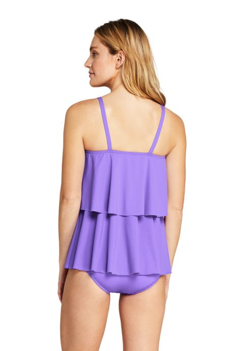Women's Tiered Ruffle Tankini Top Swimsuit