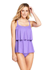 Women's Tiered Ruffle Tankini Top Swimsuit