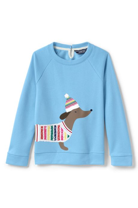 Girls Plus Rainbow Puppy Sweatshirt