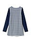 Little Girls' Gathered Yoke Stripe Tunic