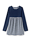 Toddler Girls' Gathered Yoke Stripe Tunic