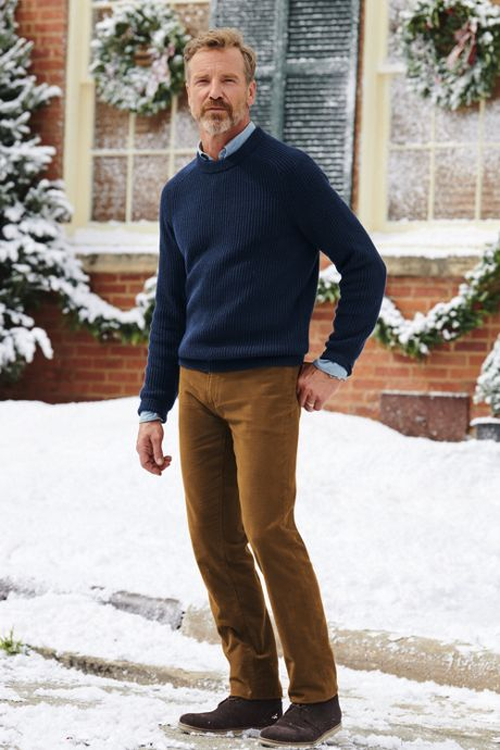 Men's Tall Lighthouse Shaker Crew Sweater
