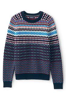 Winter-Pullover mit Fairisle-Muster für Herren