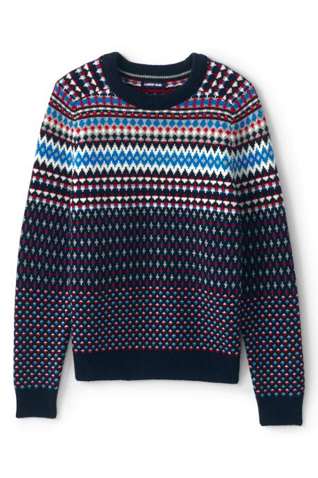 Men's Lighthouse Fairisle Crew Sweater