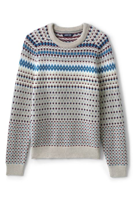 Men's Tall Lighthouse Fairisle Crew Sweater