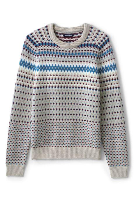 Men's Tall Lighthouse Fairisle Crew Sweater