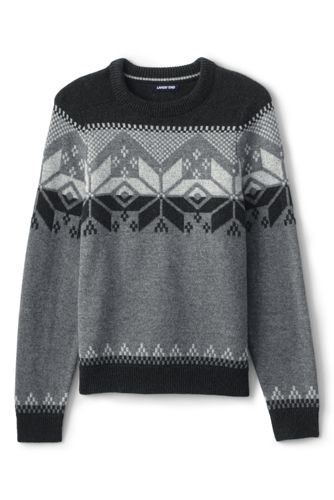 Men's Snowflake Fair Isle Jumper