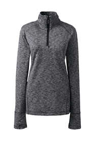 Women's Active Tech Print Quarter-zip Fleece Pullover