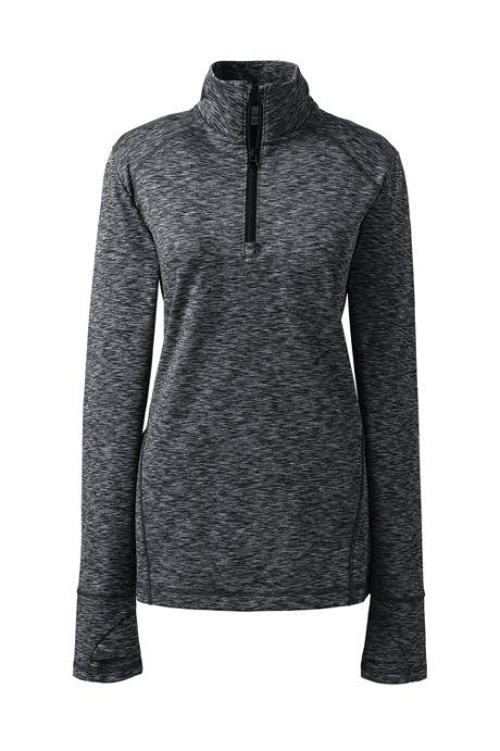 Women's Active Tech Print Quarter-zip Fleece Pullover