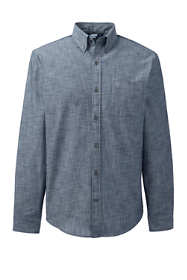 Men's Long Sleeve Tailored Fit Chambray Shirt