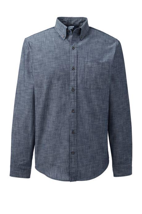 Men's Slim Chambray Shirt