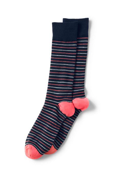 Men's Seamless Toe Novelty Pattern Dress Socks (1-pack)