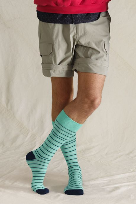 Men's Seamless Toe Novelty Pattern Dress Socks (1-pack)