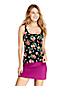 Women's Beach Living Square Neck Tankini Top, Print