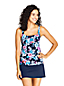 Women's Beach Living Square Neck Tankini Top, Print - DD Cup