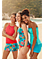 Women's Beach Living Wrap Tankini Top, Print - DDD Cup
