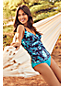 Women's D-Cup Beach Living Print Wrap Tankini Top