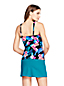 Women's Beach Living Wrap Tankini Top, Print - DD Cup