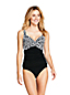 Women's Beach Living Print Wrap Tankini Top