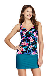 f812e21f8ea7e Women's Beach Living Blouson Tankini Swimsuit Top - Larimar Floral ...