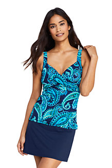 Women's Beach Living Wrap Tankini Top, Print