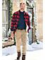 Flanellhemd mit Teddy-Futter für Herren, Classic Fit
