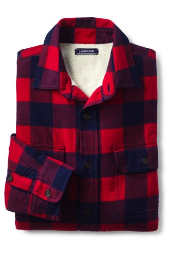 Men s Sherpa-lined Flannel Shirt Jacket  9ad831b0342