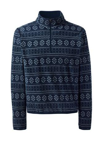 Men's Printed Half-zip Fleece Top