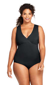 Women's Plus Size V-neck One Piece Swimsuit