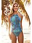 Women's Sunrise Print Halterneck Swimsuit