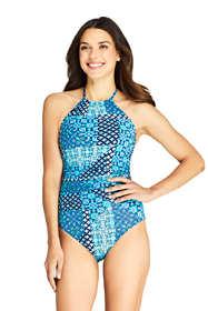 Women's High-neck One Piece Swimsuit Print