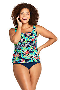 c14744a6e6 Women's Plus Size Mastectomy Square Neck Tankini Top Swimsuit Print. 4  Colors Available