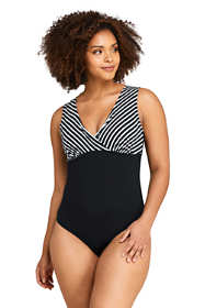 Women's Plus Size Deep V-neck One Piece Swimsuit Print