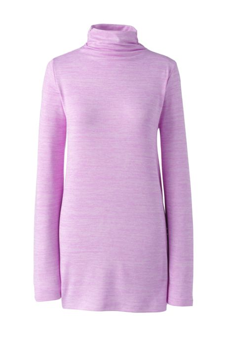 Women's Long Sleeve Mock Neck Tunic