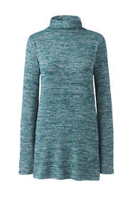 Women's Petite Long Sleeve Mock Neck Tunic