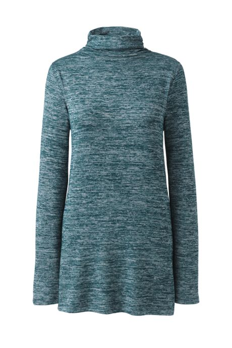 Women's Tall Long Sleeve Mock Neck Tunic