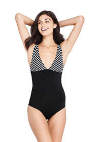 Women's Deep V-neck One Piece Swimsuit Print