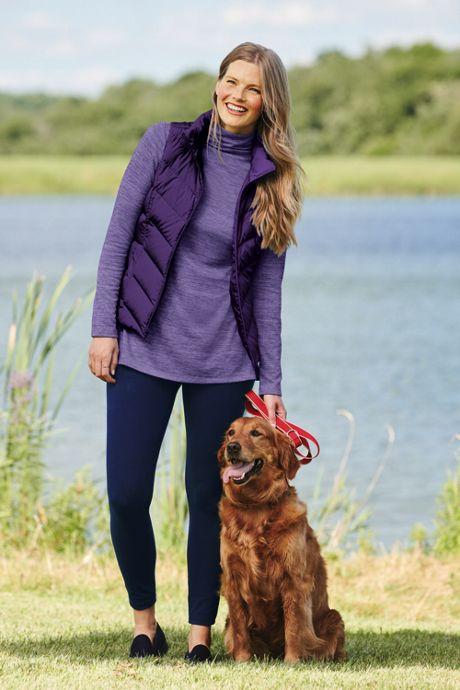 Women's Plus Size Long Sleeve Mock Neck Tunic