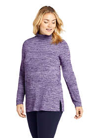 Women's Plus Size Long Sleeve Mock Neck Tunic