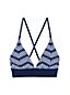 Haut de Bikini Imprimé Sunrise Bretelles Croisées Lacées, Femme Stature Standard