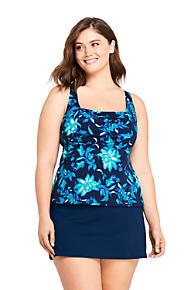 14eaa49f293 Women s Plus Size Square Neck Underwire Tankini Top Swimsuit Print