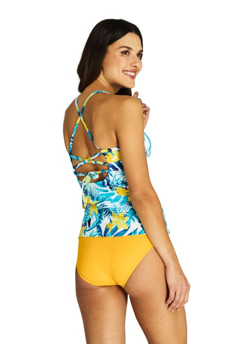 Women's V-neck Tankini Top Swimsuit Print