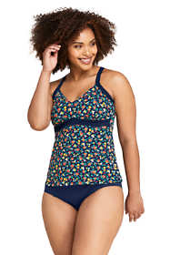 Women's Plus Size V-neck Tankini Top Swimsuit Print