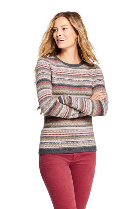 Women's Cashmere Fair Isle Sweater