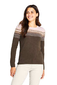 Women's Tall Cashmere Crewneck Sweater - Fair Isle
