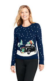 Women's Tall Supima Cotton Christmas Sweater